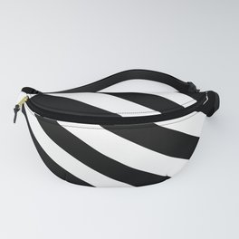 The Turning Point - Abstract Minimalism Art (3) Black & White Fanny Pack