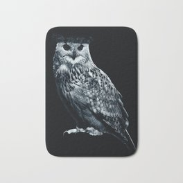 Burning Owl Bath Mat