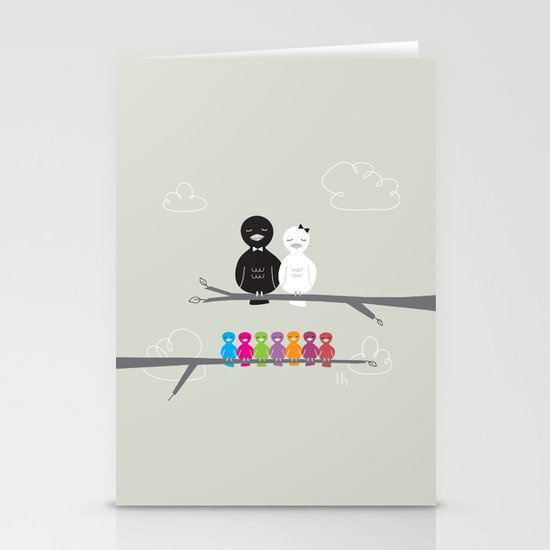 The Happy Family Stationery Cards