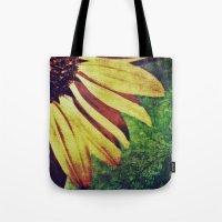 fleur de lis Tote Bags featuring Sunflower Fleur De Lis by minx267