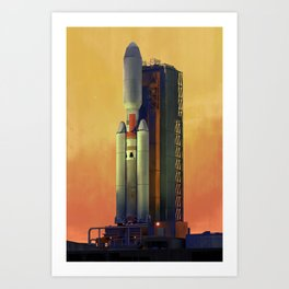 Titan IVB Art Print