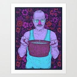 Cook (fiolet) Art Print