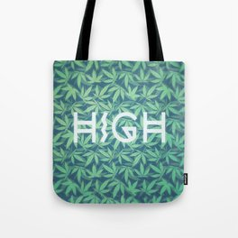 HIGH TYPO! Cannabis / Hemp / 420 / Marijuana  - Pattern Tote Bag