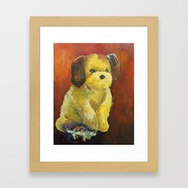 Dino and Friends Series - Pup Framed Art Print