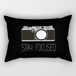 Say Focused Rectangular Pillow