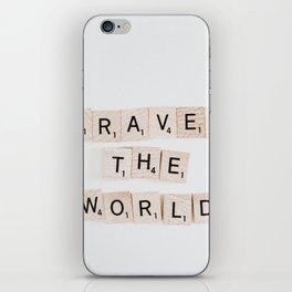 Travel the world iPhone Skin