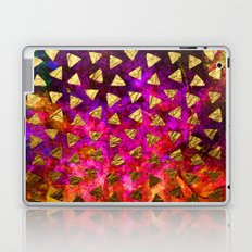 Triangles golden foil Laptop & iPad Skin