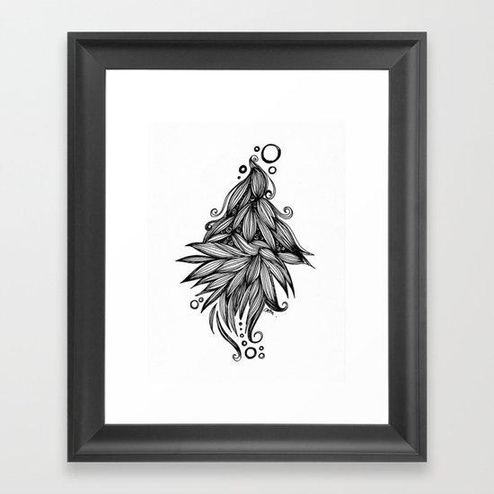Ornate tangle wave form Framed Art Print
