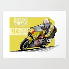 Doriano Romboni - 1994 Laguna Seca Art Print