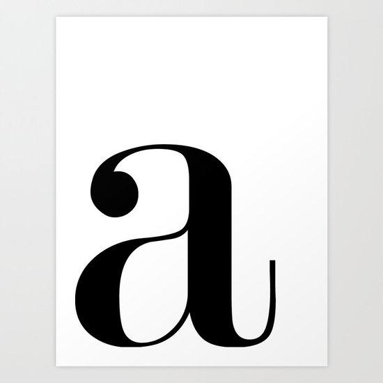 "Monogram Series Letter ""a""  by raincityprints"