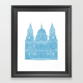 St Paul's Cathedral - London architectural print Framed Art Print