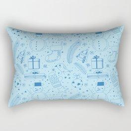 Doodle Christmas pattern Rectangular Pillow