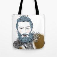 beard Tote Bags featuring beard by katiwo