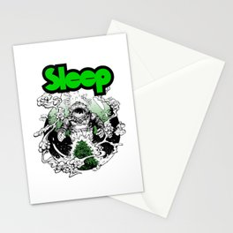 sleep band merch Stationery Cards