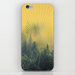 Golden Rays Forest #society6 iPhone Skin