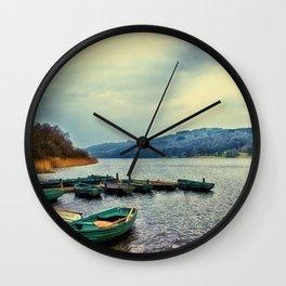 Boats on Esthwaite Wall Clock