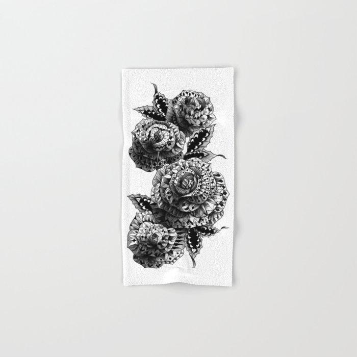 Four Roses Hand & Bath Towel