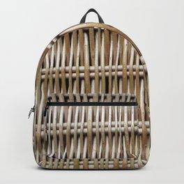 Wicker Weave Backpack
