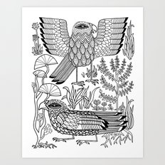 Ancient Birds Art Print