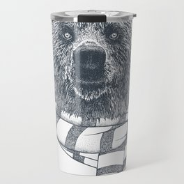 Winter Bear Drawing Travel Mug
