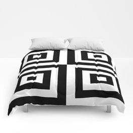 03BW04 | Pattern | Black and White | Digital Art | Artist Amiee Comforters