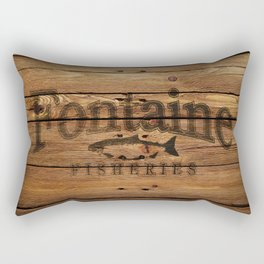 Fontaine Fisheries Crate Rectangular Pillow