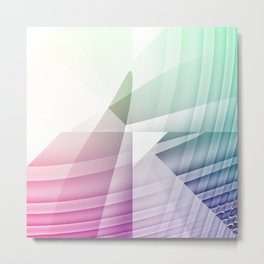 Square Abstract Metal Print