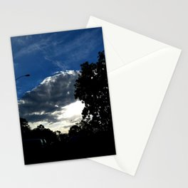 Sun behind the cloud Stationery Cards
