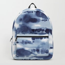 Navy Watercolour Abstract 2 Backpack