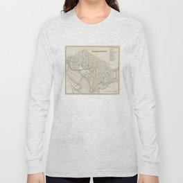 Vintage Map of Washington DC (1866) Long Sleeve T-shirt