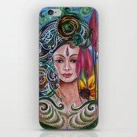chakra iPhone & iPod Skins featuring Chakra Mandla by Harsh Malik