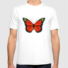 Red butterfly Mens Fitted Tee White SMALL