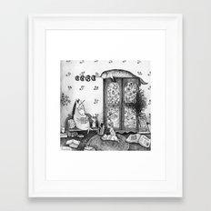 Unicorn house Framed Art Print