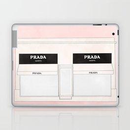 pink marfa watercolor illustration Laptop & iPad Skin