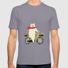 Yeti Taking a Ride SMALL Slate Mens Fitted Tee