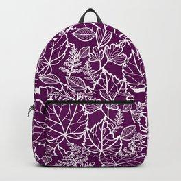 Plum Maple Leaves Backpack
