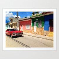 Cars in Cuba Art Print