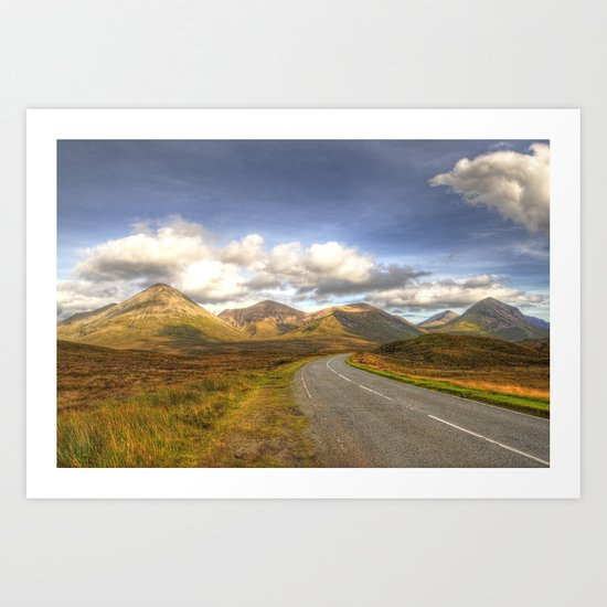 The Cuillin Mountains of Skye Art Print