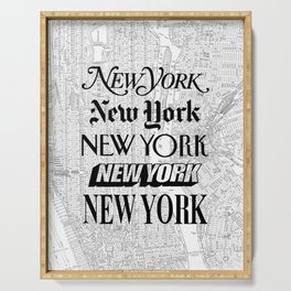 New York City black and white New York poster I love heart NYC Design black-white home wall decor Serving Tray