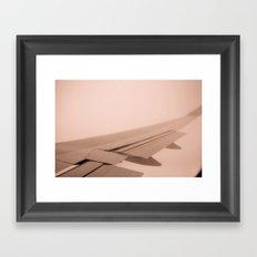Plane View Framed Art Print