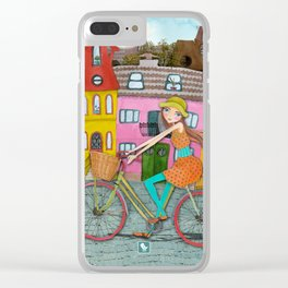Bicycle and Balloons Clear iPhone Case