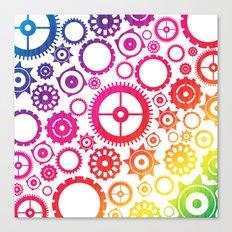 Color Cogs. Canvas Print