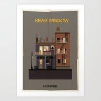 babina Art Prints featuring Rear Window   Directed by Alfred Hitchcock by federico babina