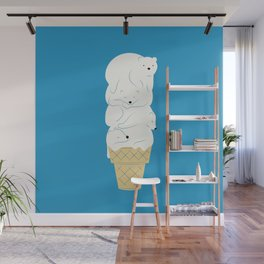 Polar Bear Ice Cream Wall Mural