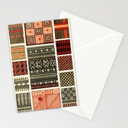 Pacific Island Patterns, Vintage Book Illustration Stationery Cards