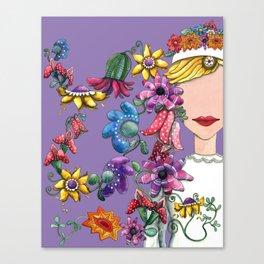 I Love the Flower Girl Lavender Canvas Print