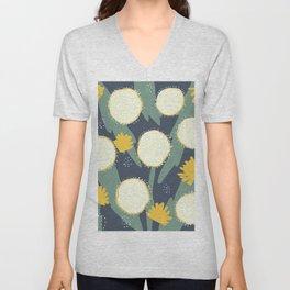 Dandelion Floral Pattern Unisex V-Neck