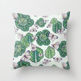 butterflies in the garden Throw Pillow