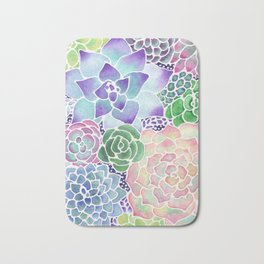 Masked Flora Collection Succulents Bath Mat