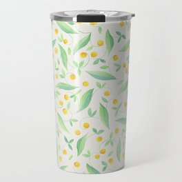 Watercolor Spring Flower pattern Travel Mug
